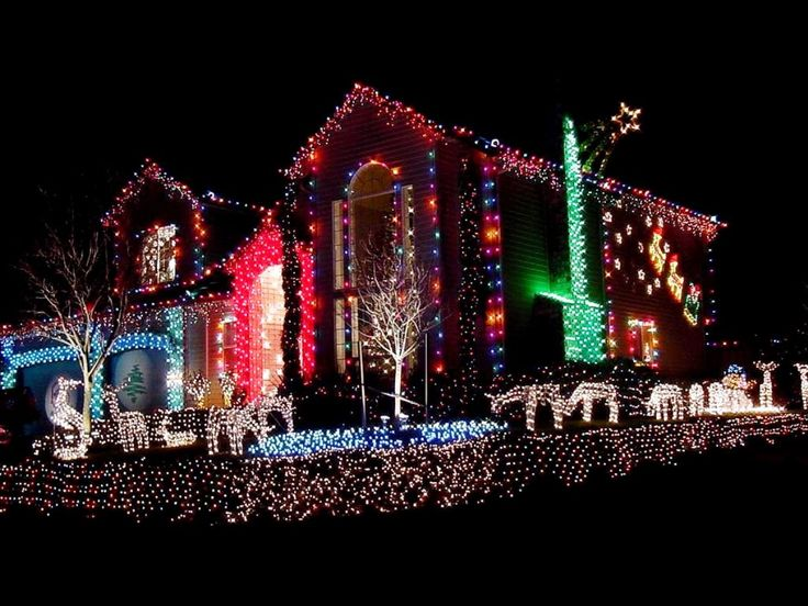 Pictures Of Houses Decorated For Christmas best 10+ christmas lights on houses ideas on pinterest | kid