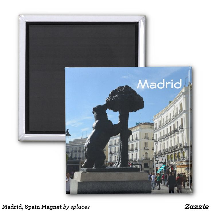Bear and tree - Official Symbol of Madrid, Spain.  Magnet