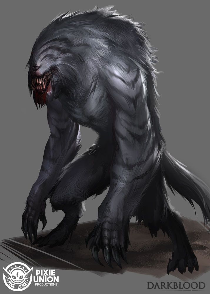 Creature by daemonstar grey gray silver darkblood ape gorilla mutant monster beast creature animal | Create your own roleplaying game material w/ RPG Bard: www.rpgbard.com | Writing inspiration for Dungeons and Dragons DND D&D Pathfinder PFRPG Warhammer 40k Star Wars Shadowrun Call of Cthulhu Lord of the Rings LoTR + d20 fantasy science fiction scifi horror design | Not Trusty Sword art: click artwork for source