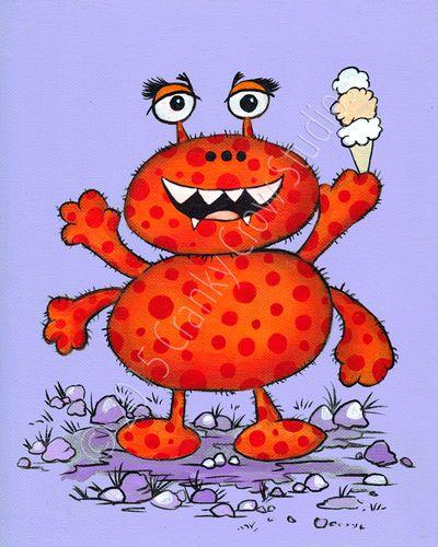 """Scary 3 Scoops 8"""" x 10"""" Print"""