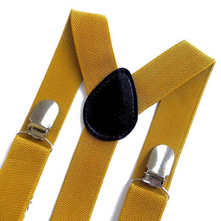 Gold suspenders yellow suspenders mens suspenders