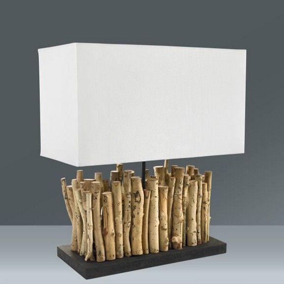 Tischleuchte Rahma, max. 60 Watt - Naturfarben/Braun, LIFESTYLE, Holz/Textil (50/45cm) - MÖMAX modern living