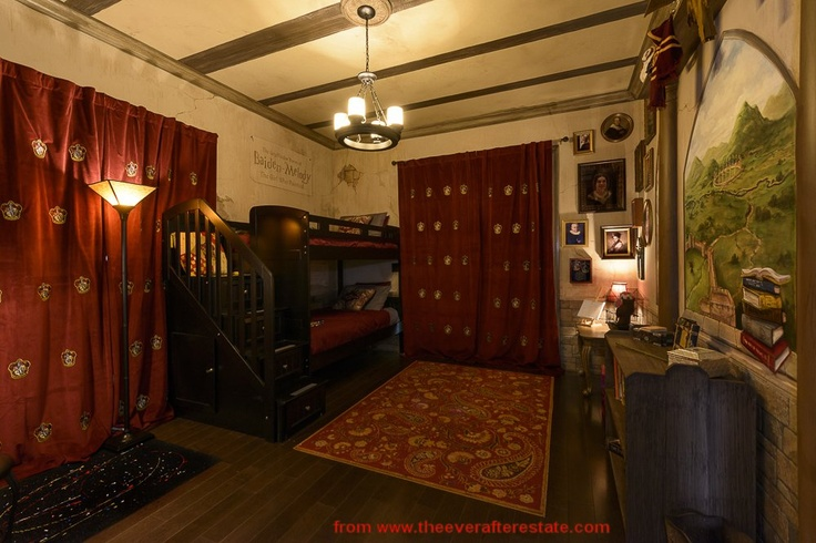 The Harry Potter themed bedroom of The