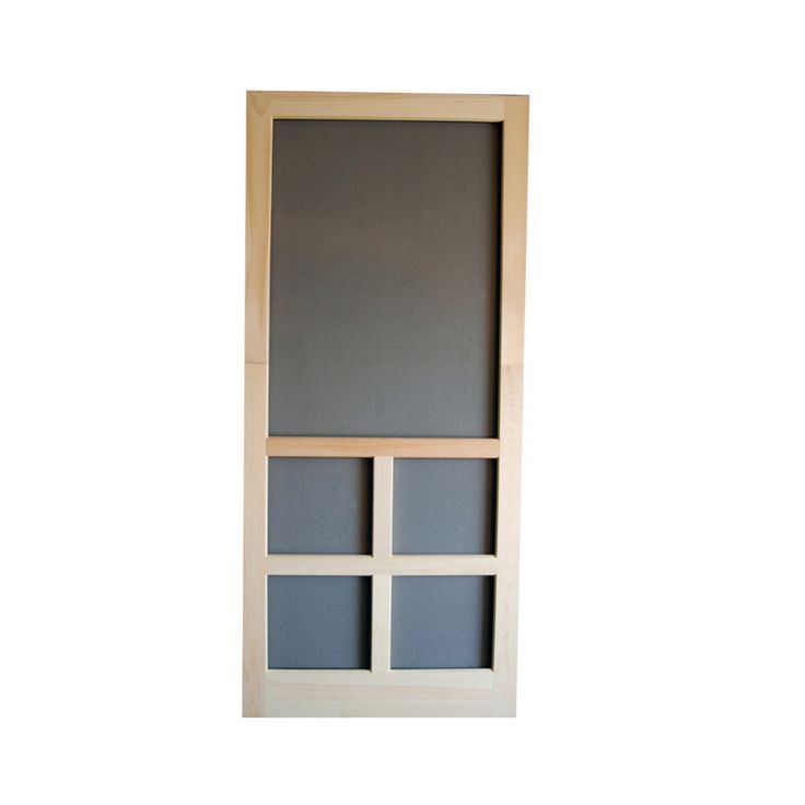 Screen Tight Unfinished Wood Screen Door (Common: 36-in x 80-in; Actual: 36-in x 80-in)