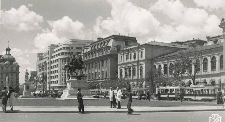 București 1940. Piața Academiei (Universității), așa cum nu o vom mai vedea niciodată