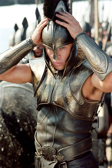 Brad Pitt in Troy, best Aries-type scene, when Achilles jams his helmet on his head so purposefully, so driven, so ready for decisive battle.