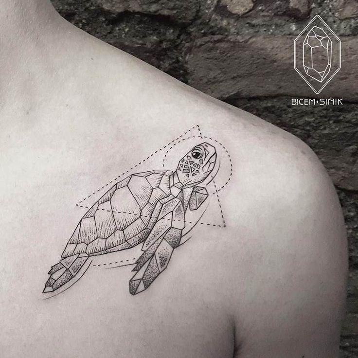#Turtle #Tattoo by artist Bicem Sinik La tortue qui porte l humanité sur son dos