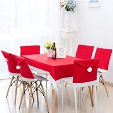 Cheap christmas ornament Christmas kitchen table chair covers set noel navidad Dinner tables and chairs Decoration(China (Mainland))
