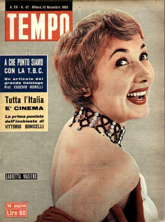 "Lauretta Masiero. Cover of Italian weekly newsmagazine ""Tempo"" [Time], 19 November 1953."