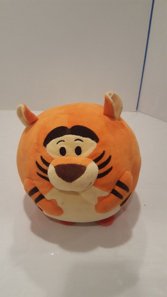 "Ty Beanie Ballz Disney Tigger 12"" LARGE Round Ball Plush Stuffed Beanie Pooh #TY"
