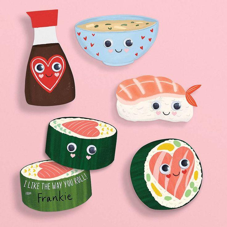 sushi valentine card kit  paper source in 2020  cute