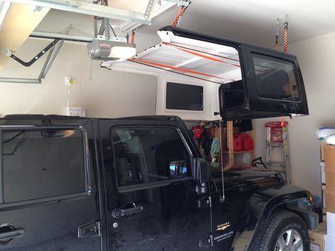 Cheap and Easy Hard Top Hoist - JKowners.com : Jeep Wrangler JK Forum