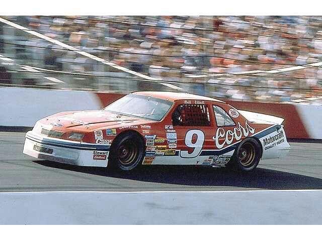 Old NASCAR Bill Elliott Ford Thunderbird