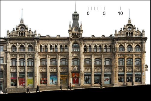 architectural photogrammetry Street-scape in Vladivostok's historic district