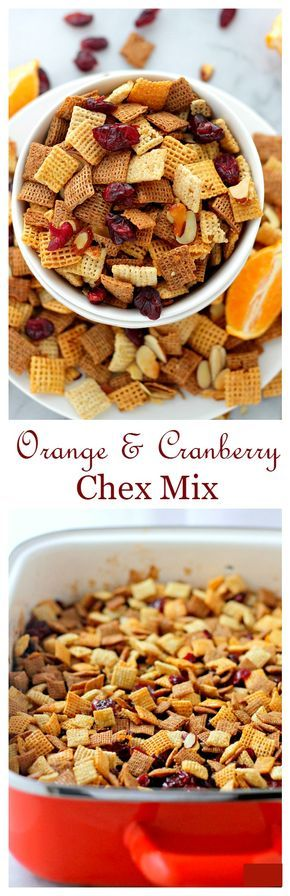 Orange and Cranberry Chex Mix | www.diethood.com | Super delicious, dangerously addictive and the best snack to bring to your New Year's Eve Party! {Use GF Chex Mix}
