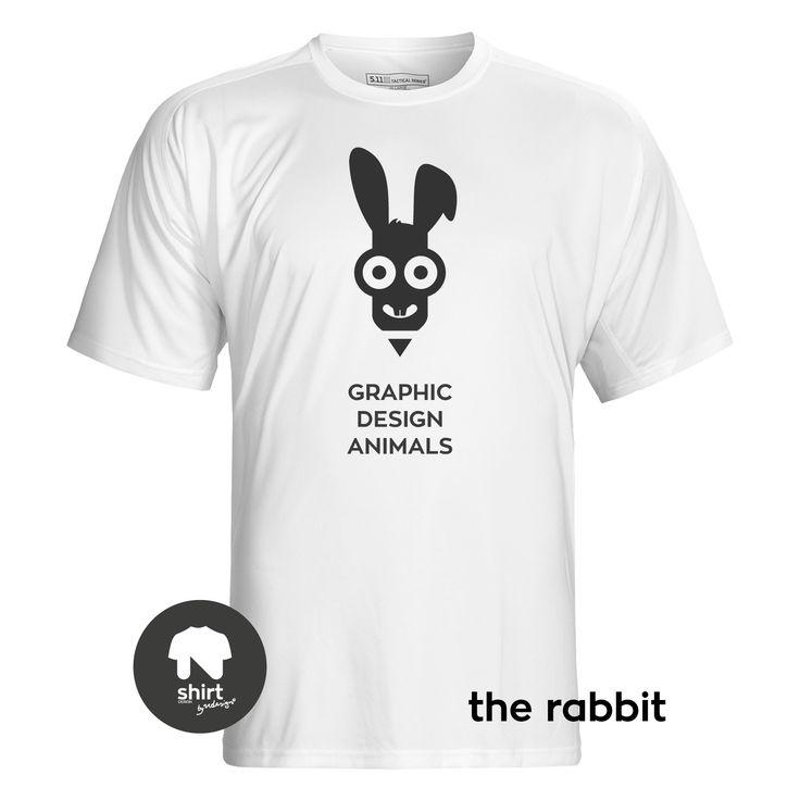 Graphic Design Animals T-Shirt Series, The Rabbit #T-shirt #design #graphic_design by George Nikolaidis