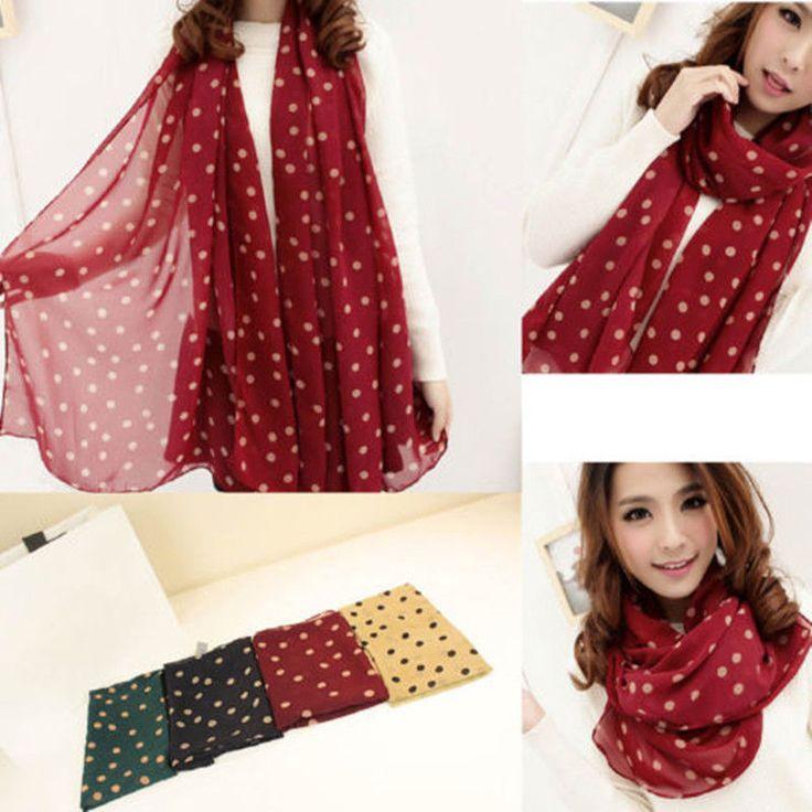 Fashion Women's Long Print Silk Chiffon Scarf Wrap Ladies Shawl Silk Scarves