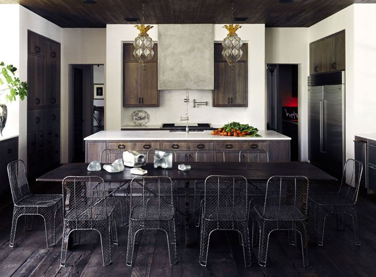 decor, interior, black, dark wood,