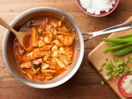 Korean Tuna and Kimchee Stew (Kimchi Jjigae) : Recipes : Cooking Channel: Recipe Courtesy of Esther Choi
