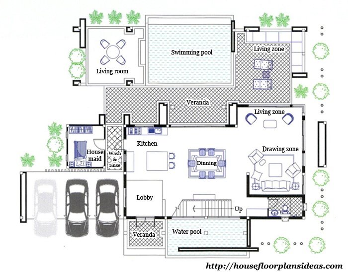 Modern Tropical Home Floor Plans House Design Ideas