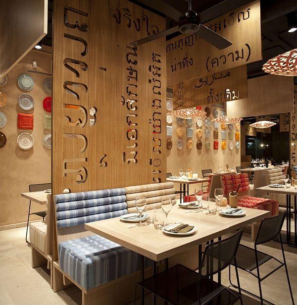 Asian interior design for lah restaurant