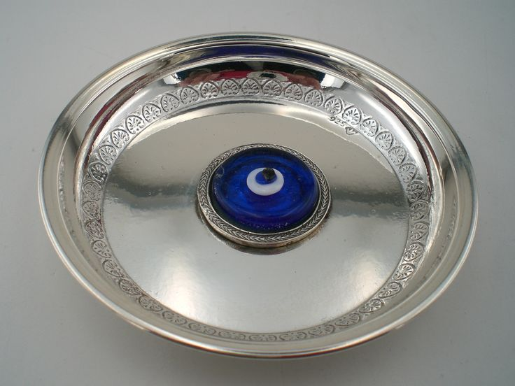 Silver Dish with evil eye