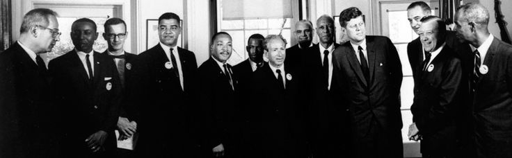 JFK meets with Civil Rights Leaders Aug 28 1963