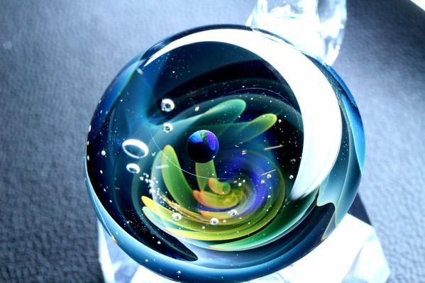 宇宙ガラスペンダント「惑星」 spaceglass. galaxyglass. handmade. pendant.  ColorWorks