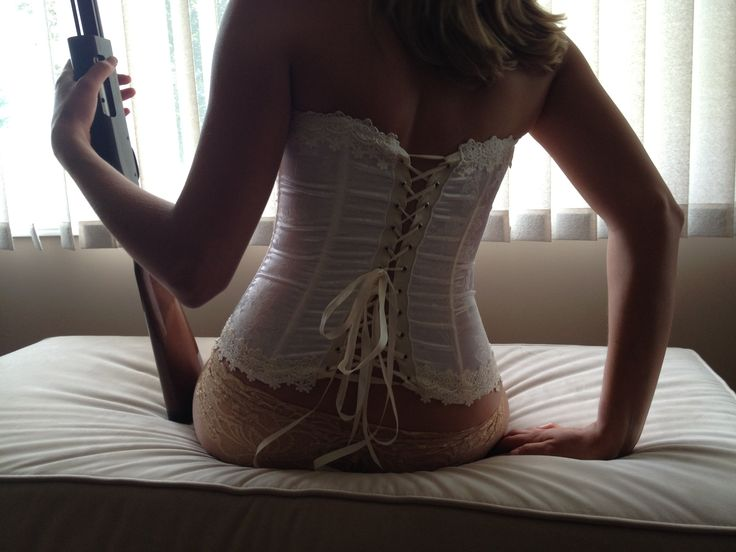 Corset, lace panties and a shot gun...oh my man will love this.