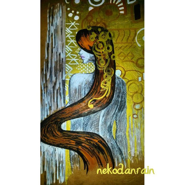 Decorating the cover of my #sketchbook #Klimt (and a picture seen online)…