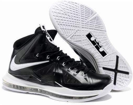 Nike Lebron 10 Black White Shoes For Men