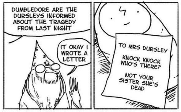 A German comic artist has already won the hearts of Harry Potter fans with her hilarious Dumbledore comics    These Harry Potter Comics Will Have You Crying With Laughter