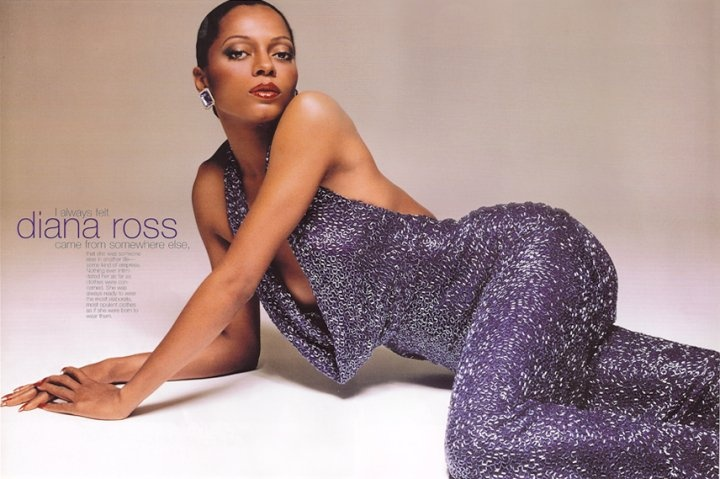 Diana Ross in Bob Mackie.  Diana always liked a looser fit for stylistic reasons, and Mackie obliged.
