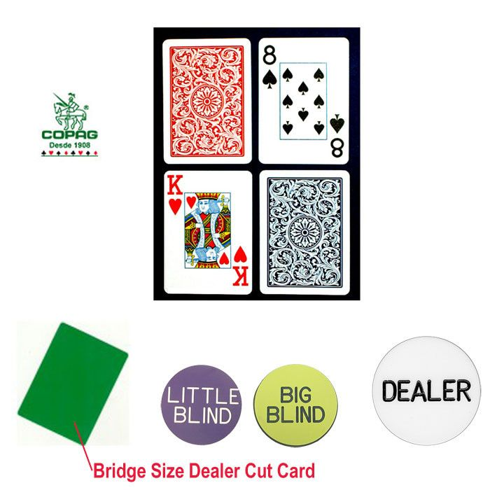 Trademark Commerce 10-b5973j-Kit Copag Bridge Size Plastic Playing Cards & Dealer Kit
