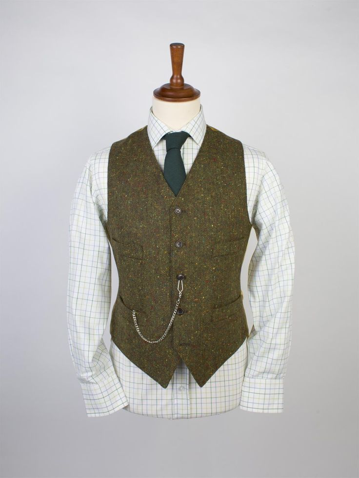 Donegal Tweed Waistcoat - Peter Christian