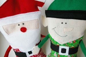 Snuggly Christmas Character Rice Bags | AllFreeSewing.com