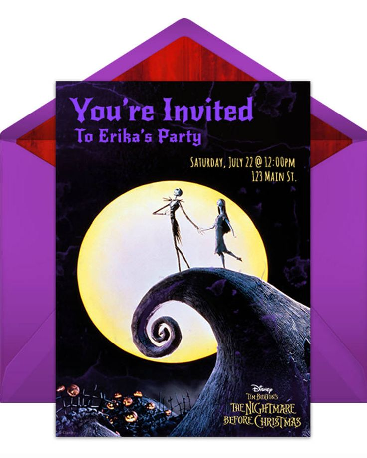 The Nightmare Before Christmas Party Online Invitations