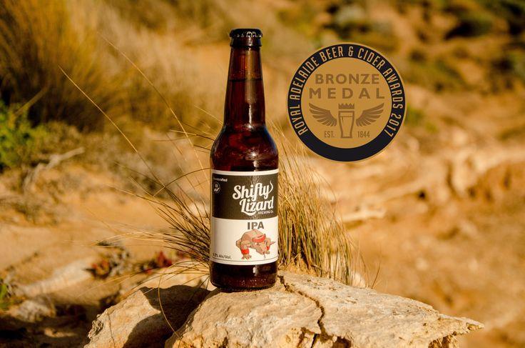 Award winning IPA from Shifty Lizard Brewing