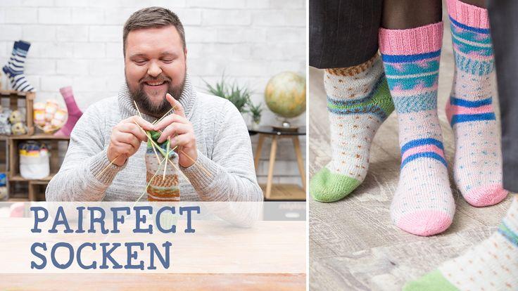 DIY-Video: Stricke zwei perfekt gemusterte Socken mit Lutz von Maleknitting und Schachenmayr REGIA / diy knitting tutorial: knitting video for two identical socks via DaWanda.com