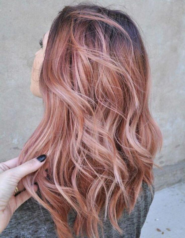 Ombré hair rose gold