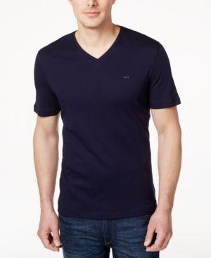Michael Kors Men's V-Neck Liquid Cotton T-Shirt -