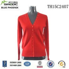 BLUE PHOENIX v neck red knitted 100% cashmere women cardigan with button Best Seller follow this link http://shopingayo.space
