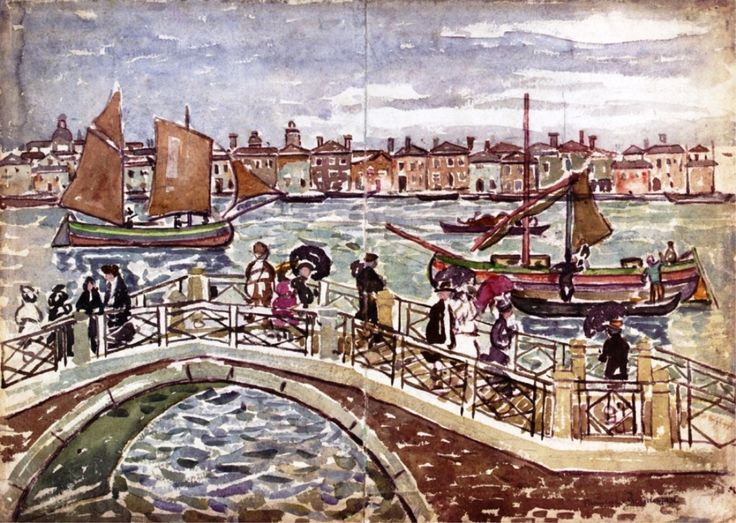 Maurice Prendergast   water-color painting