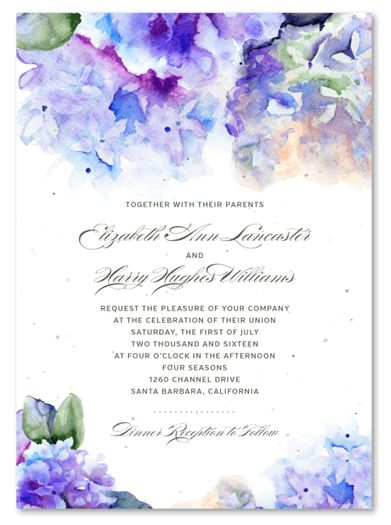 Plantable wedding invitations! Once used, your guest can plant them and wait for flowers to blossom!