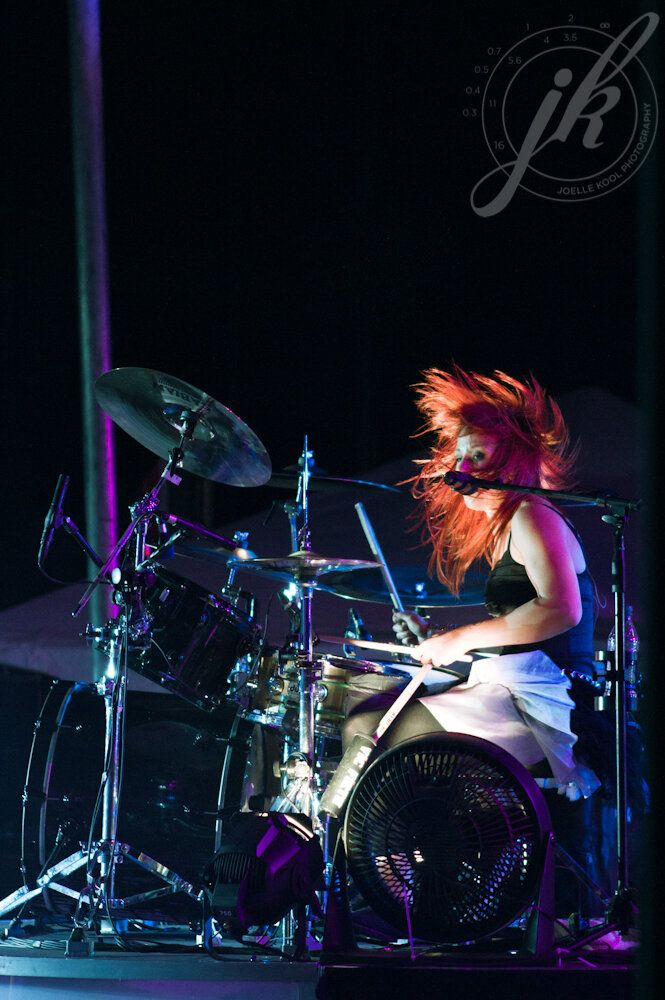 Jen Ledger: The argument that girl drummers suck is invalid. She is the best I've ever heard.