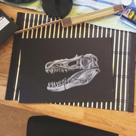 #Dinosaur, #blackandwhite , #pencil #drawing by Madeleine Hoffman