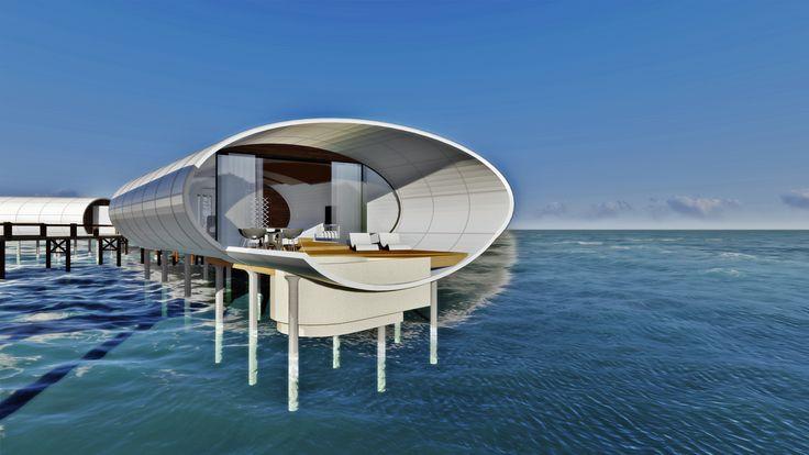 Water Villa in karimunjawa, Indonesia #mydesign #watervilla #singlebed #architecture #design #concept # rendering