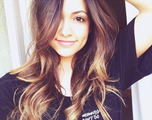 Bethany Mota Natural Hair Color