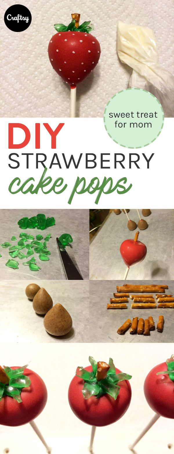 Make these strawberry cake pops for Mother's Day tea!