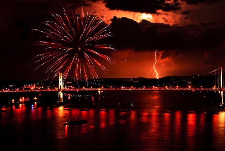 MAN VS NATURE: FIREWORKS EDITION   Photograph by Little Fish Photography on Facebook     In this perfectly timed photograph by Poughkeepsie-based company, Little Fish Photography, we see fireworks during this year's Fourth of July celebrations captured at the exact moment a lightning bolt strikes from the skies above. The photograph was captured from [...]